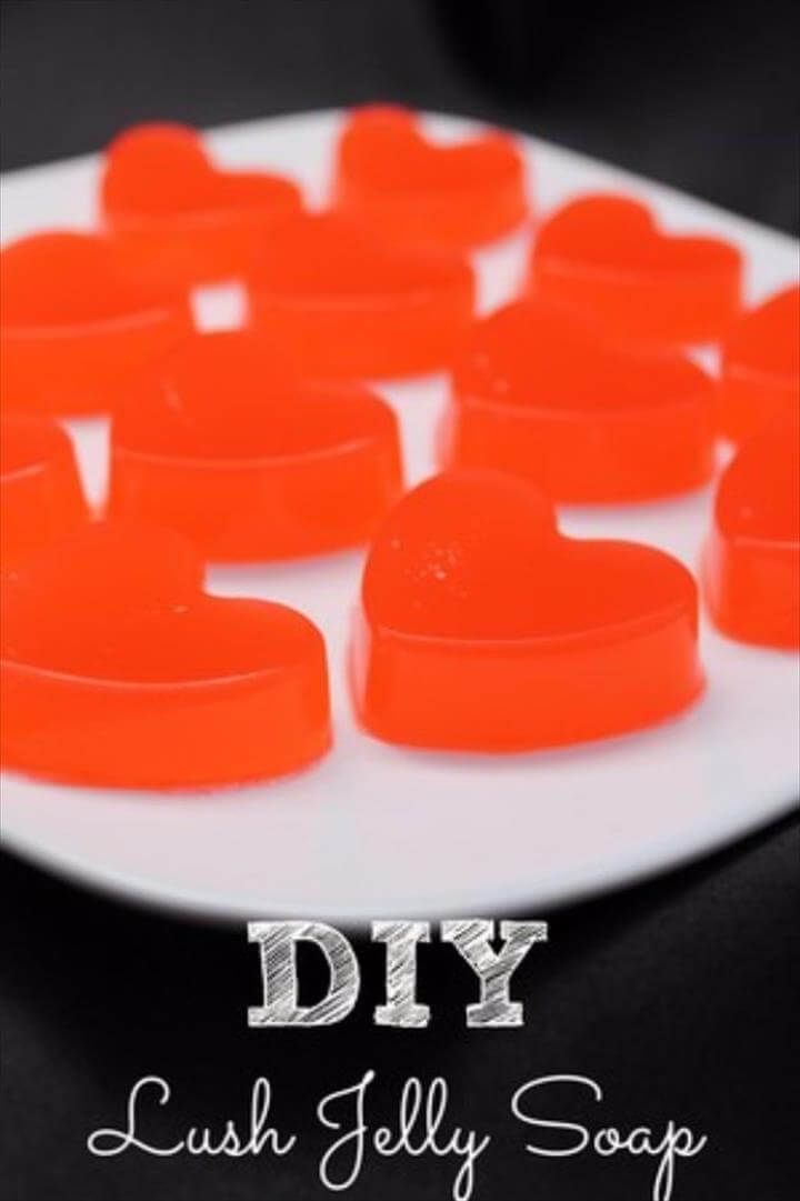 DIY Lush Inspired Recipes - DIY Lush Jelly Soap - How to Make Lush Products like