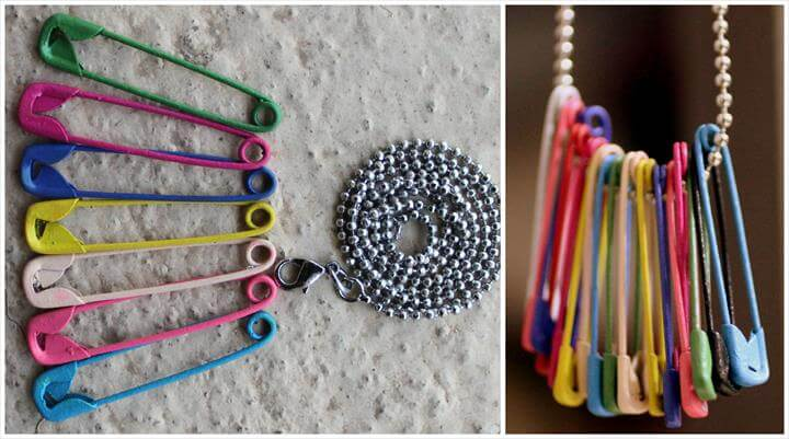 Safety Pin Necklace, Diy Necklace, Craft Gifts, Diy Fashion, Jewelry Crafts, Jewelry Box, Jewelry Ideas, Jewelery, Diy Accessories, Diy Projects, Safety Pin Art, Safety Pin Crafts, Safety Pins, Safety Pin Jewelry, Safety Pin Art, Safety Pin Jewelry, Safety Pins, Seed Bead Jewelry, Seed Beads, Diy Jewelry, Beaded Jewelry, Jewelry Design, Jewelry Making, Safety Pin Tattoo, Cute Jewelry, Beaded Jewelry, Jewelry Making, Jewelry Accessories,