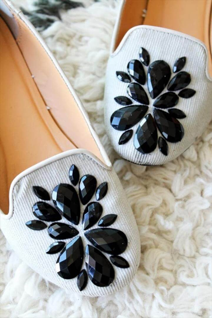 DIY Shoe Makeovers - Embellished Loafers - Cool Ways to Update, Decorate, Paint,