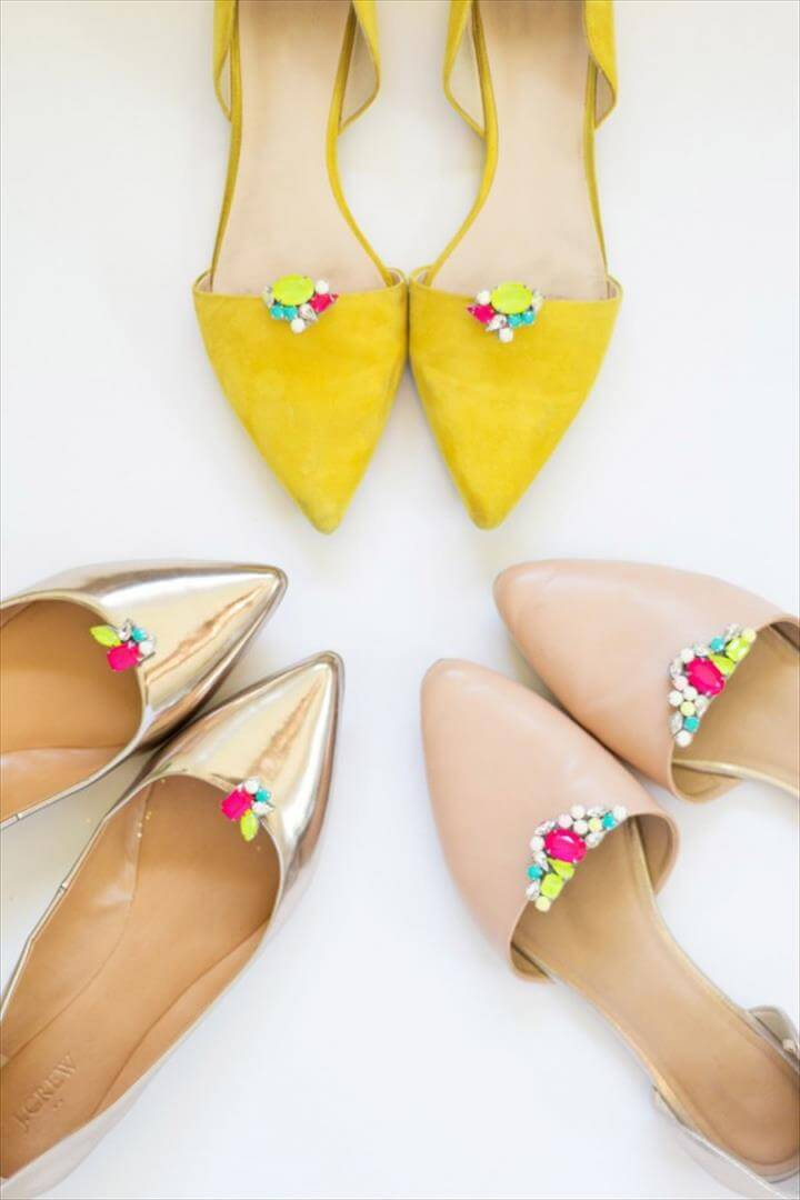 Fun and Easy DIY Shoe Makeover Ideas, diy gemstone shoe clips, Shoe Refashion, Shoe Clips, Scrooge Mcduck, Clothes Crafts, Diy Home Crafts, Diy Accessories, Diy Jewelry, Gemstones, Diy Projects,Shoe Clips, Scrooge Mcduck, Gemstone,Diy Kits, Darby Smart, Shoe Clips, General Crafts,, Diy Shoe Diy Tutorial, Crafty, Cord, Gemstones,