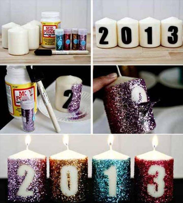 Glitter Candles, Diy Candles, Gold Glitter, Glitter Letters, Floating Candles, Glitter Art, New Years Eve Party, Grad Parties, Noel Christmas, New Years Eve Party Ideas, Decorations, Glitter Candles, Diy Candles, Flameless Candles, Nouvel An, Christmas Diy, Christmas Garlands, Holiday Fun, Christmas Projects, Diy Candles, Candle Decorations, Glitter Candles, Easy Decorations, White Candles, Blue Christmas, Christmas Crafts, Homemade Christmas, Christmas Deco, Diys, Diy New Years Eve Decorations, Diy Party Decorations, Glitter Decorations, Party Centerpieces, Centerpiece Ideas, Glitter Candles, Diy Candles, Gold Candles,Modge Podge Glitter, Candle Making, Glitter Candles, Crafty, Diy Crafts, Lighting, Husband, Decor, Holiday, diy to make, Glitter New Years Candles Decoration