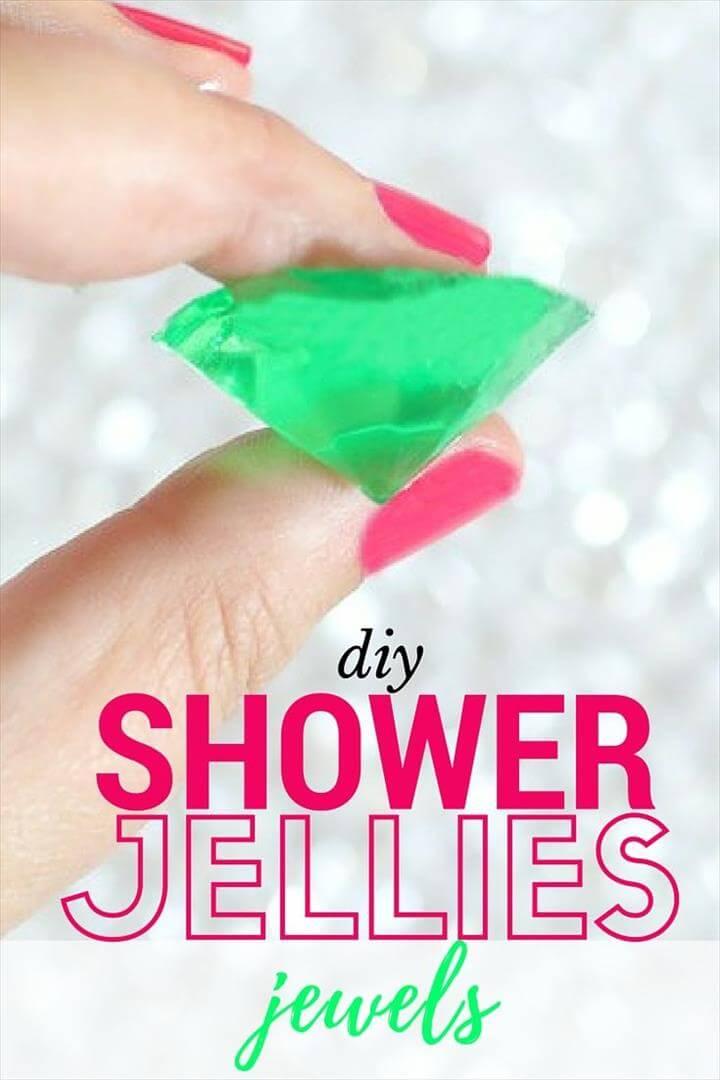 diy shower jelllies, how to make bath shower jellies, shower jelly tutorial, shower jellies lush diy, shower jellies recipe