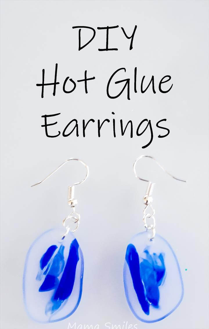 DIY hot glue earring tutorial