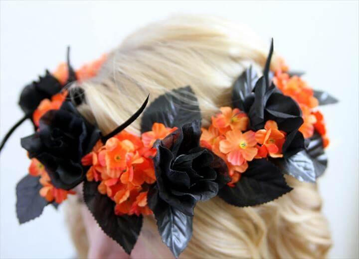 DIY Halloween Flower Crown