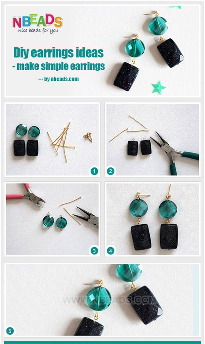 diy earrings ideas - make simple earrings