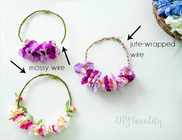 Easy DIY Flower Crowns From Dollar Store Materials