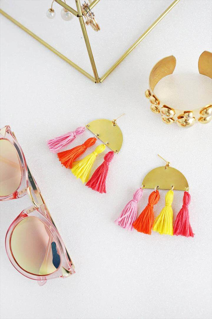 Half Moon Tassel Earring DIY