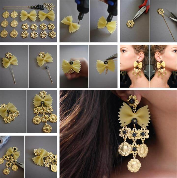 Wonderful DIY Pasta Earring