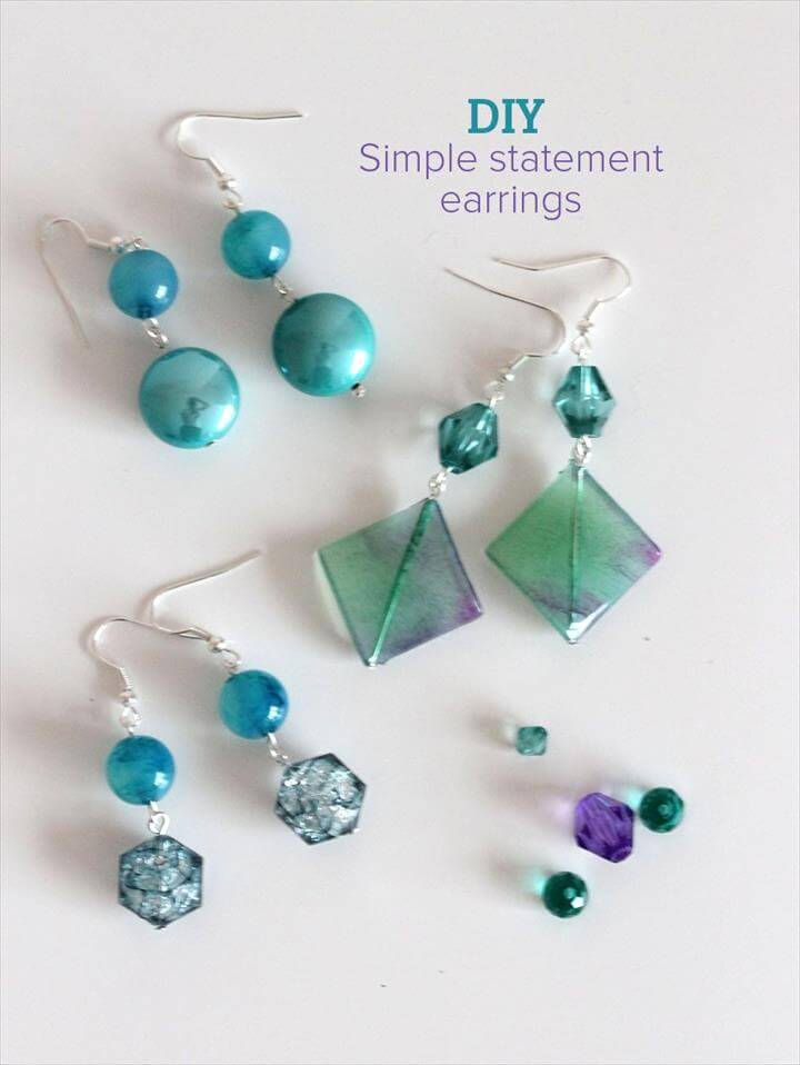 Simple Statement Earrings tutorials