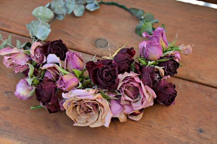 Stunning dried flower crown