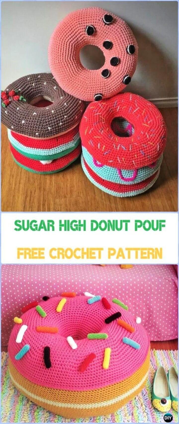 Sugar High Donut Pouf