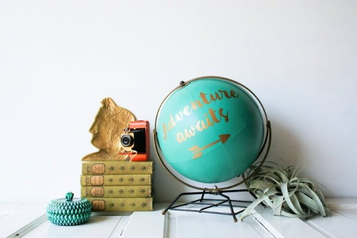 Anthropologie Inspired DIY Globe Makeover