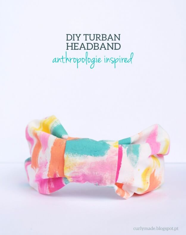 Anthropologie Inspired DIY Turban Headband