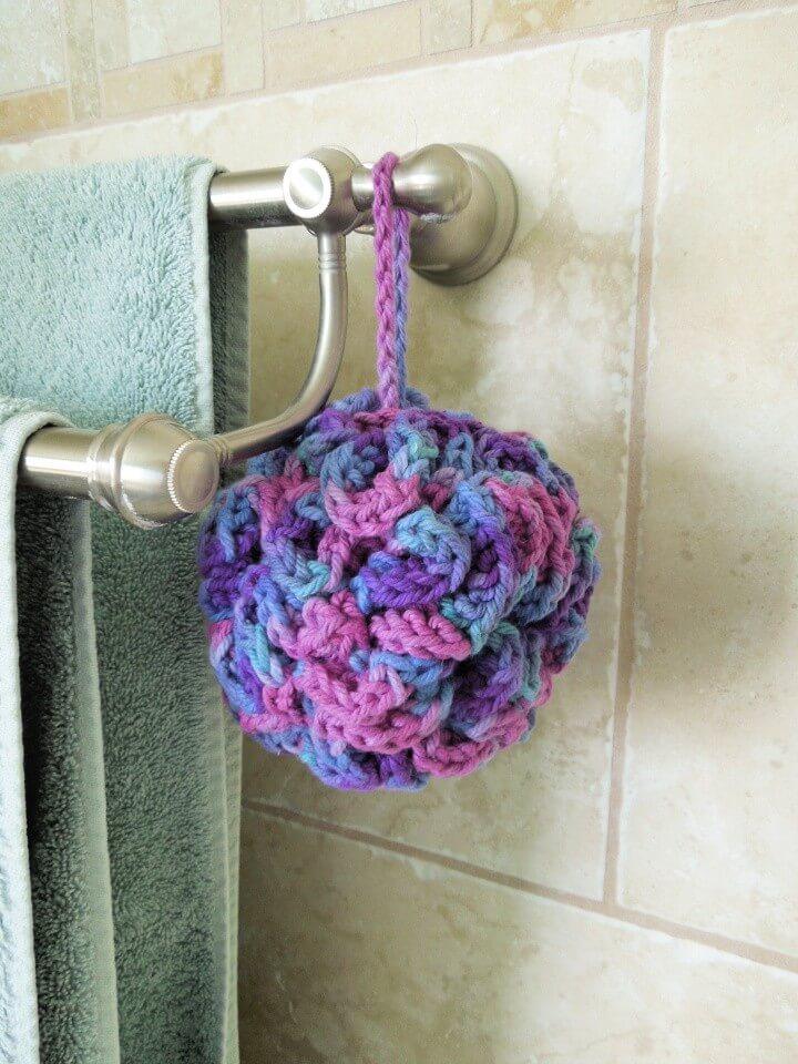 14 Quick Diy Bath Pouf Free Crochet Pattern