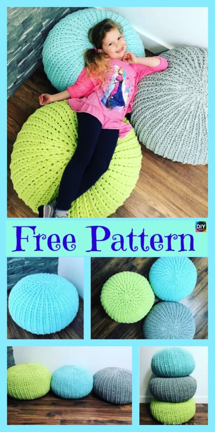 Cozy Crochet Floor Pouf Free Pattern