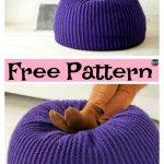 Crochet Bernat Take Notice Pouf