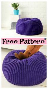 Crochet Bernat Take Notice Pouf