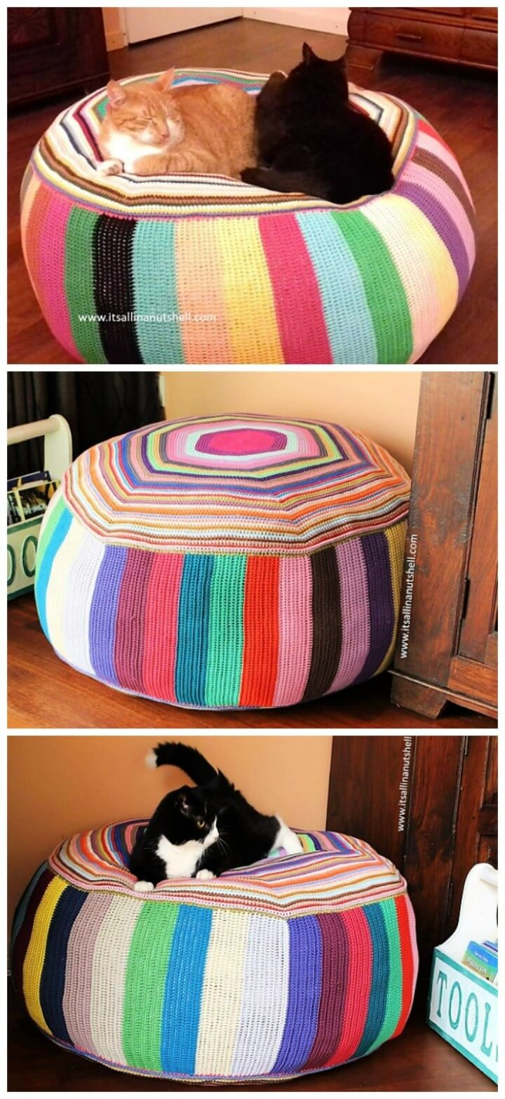Pouf of Many Colors