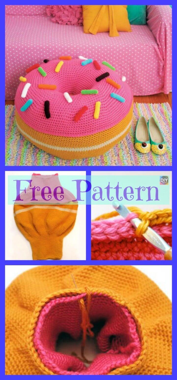 Crochet Donut Pouf Free Pattern