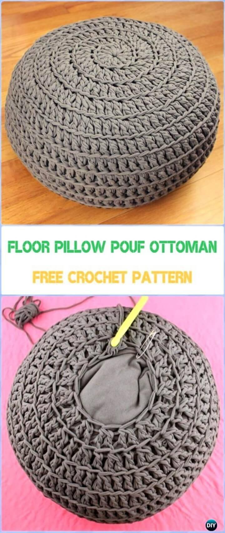 Floor Pillow Pouf Ottoman