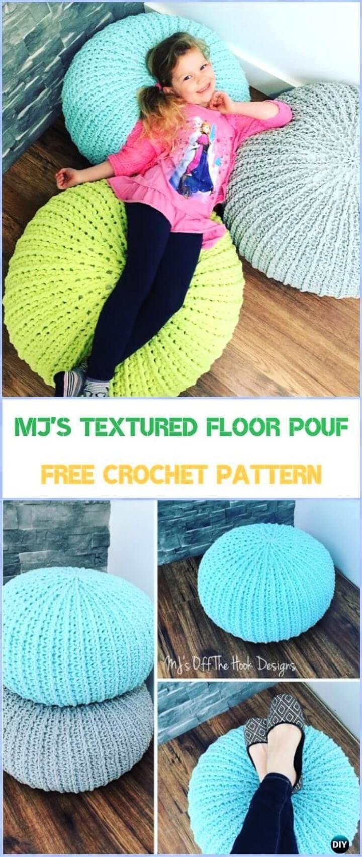 MJ's Textured Floor Pouf