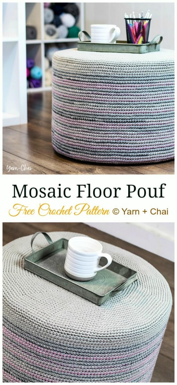 Mosaic Floor Pouf