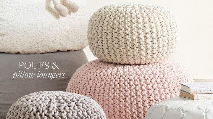 Crochet Poufs & Pillow Loungers