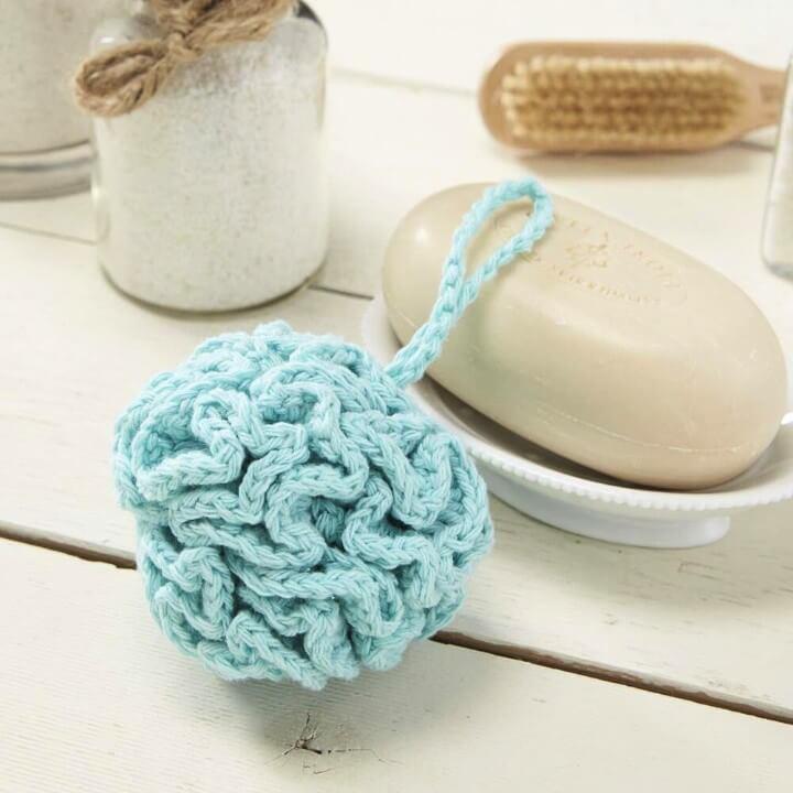 Crochet Sudsy Bath Pouf [FREE Pattern]