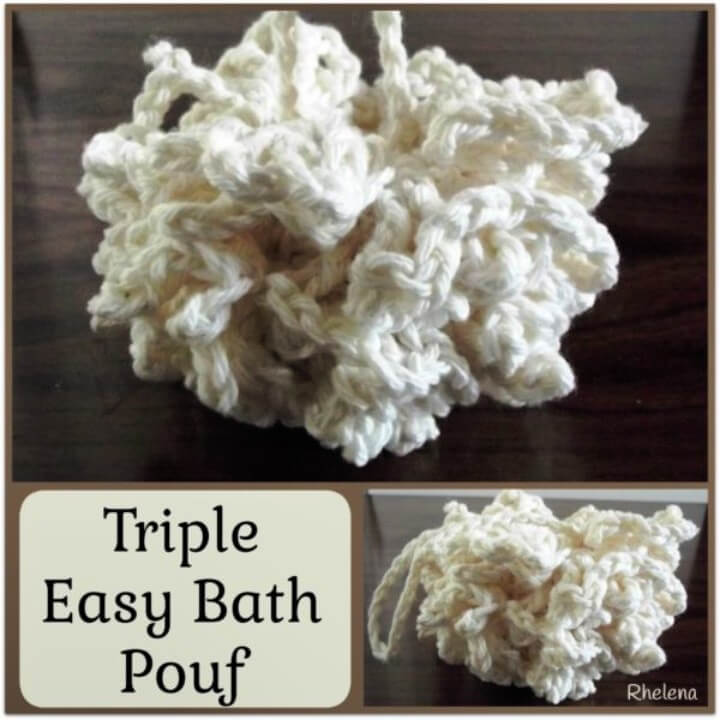 Triple Easy Bath Pouf ~ FREE Crochet Pattern