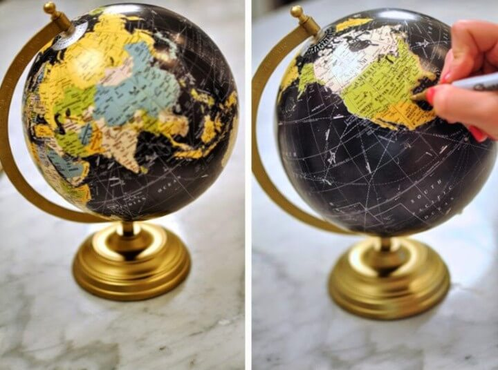 DIY Anthro-Inspired Chalkboard Globe