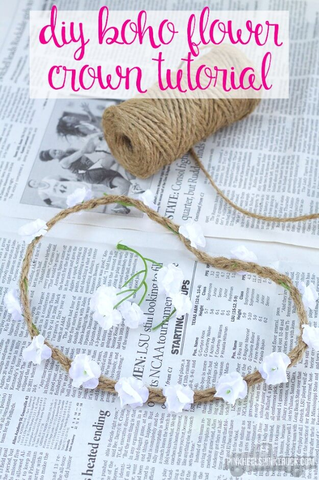 DIY Boho Flower Crown