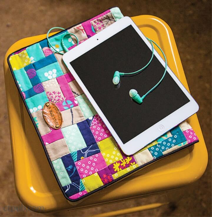 DIY colorful patchwork tablet case