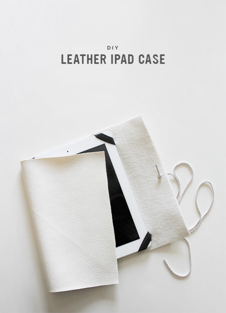 DIY creamy leather iPad case