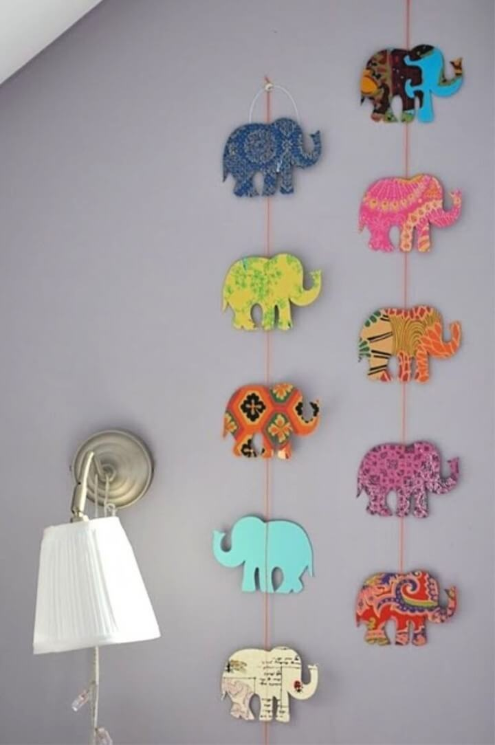 DIY Elephant Garland