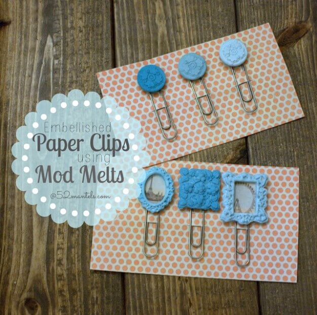 Embellished Paper Clips Mod Melts
