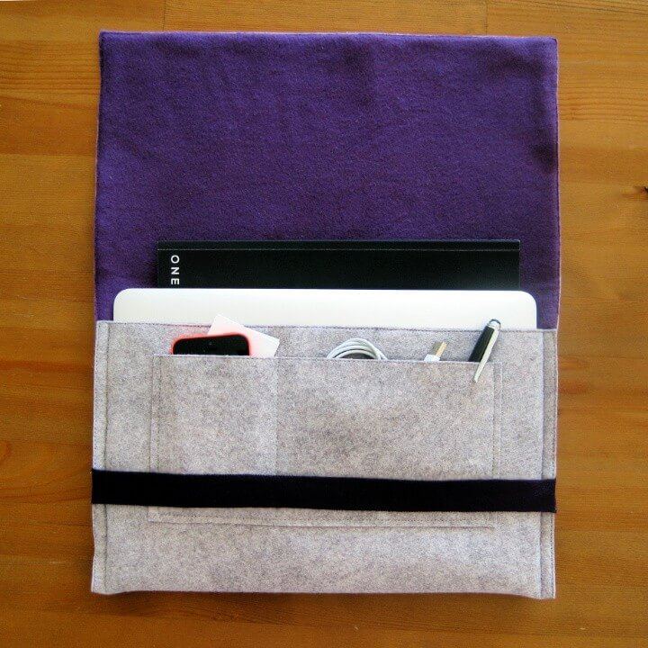 Felt & Fleece Laptop Sleeve: sewing tutorial