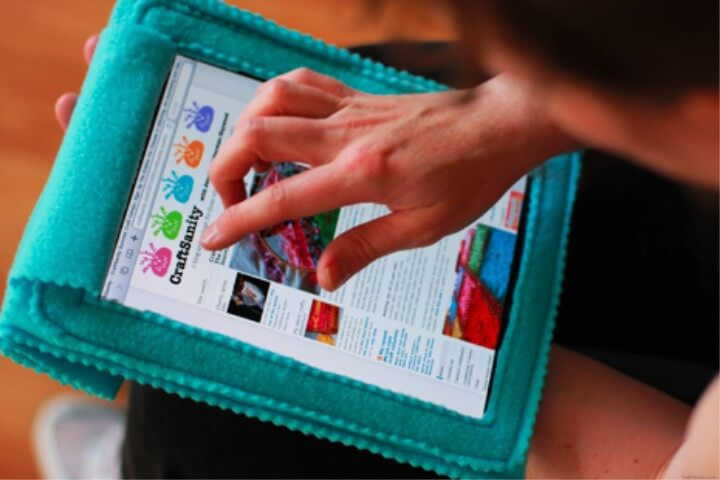 Fleece iPad Cozy