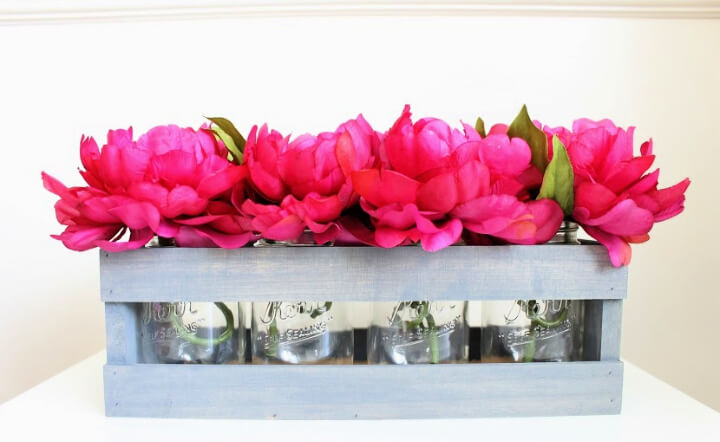 DIY Flower Box Centerpiece