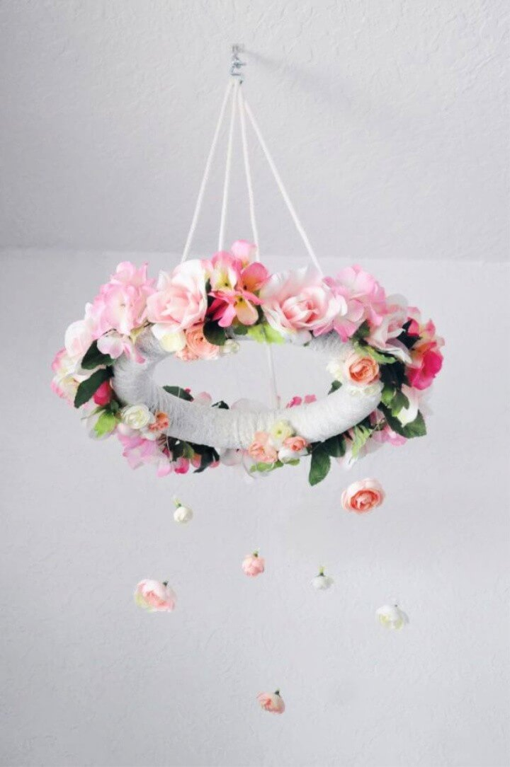DIY Flower Mobile