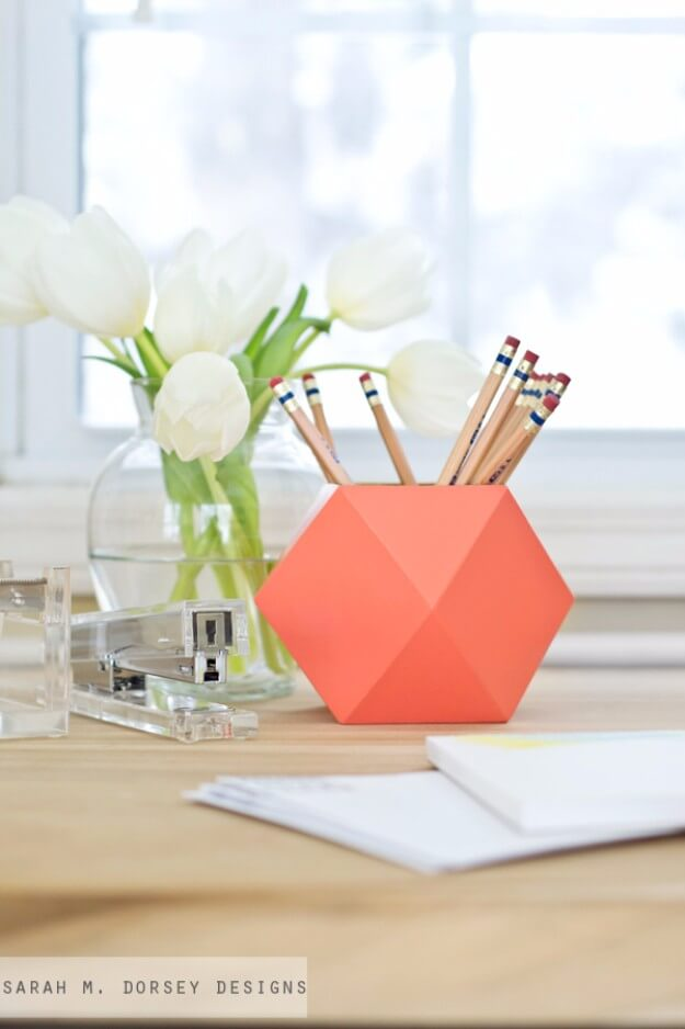 Geometric Pencil Cups