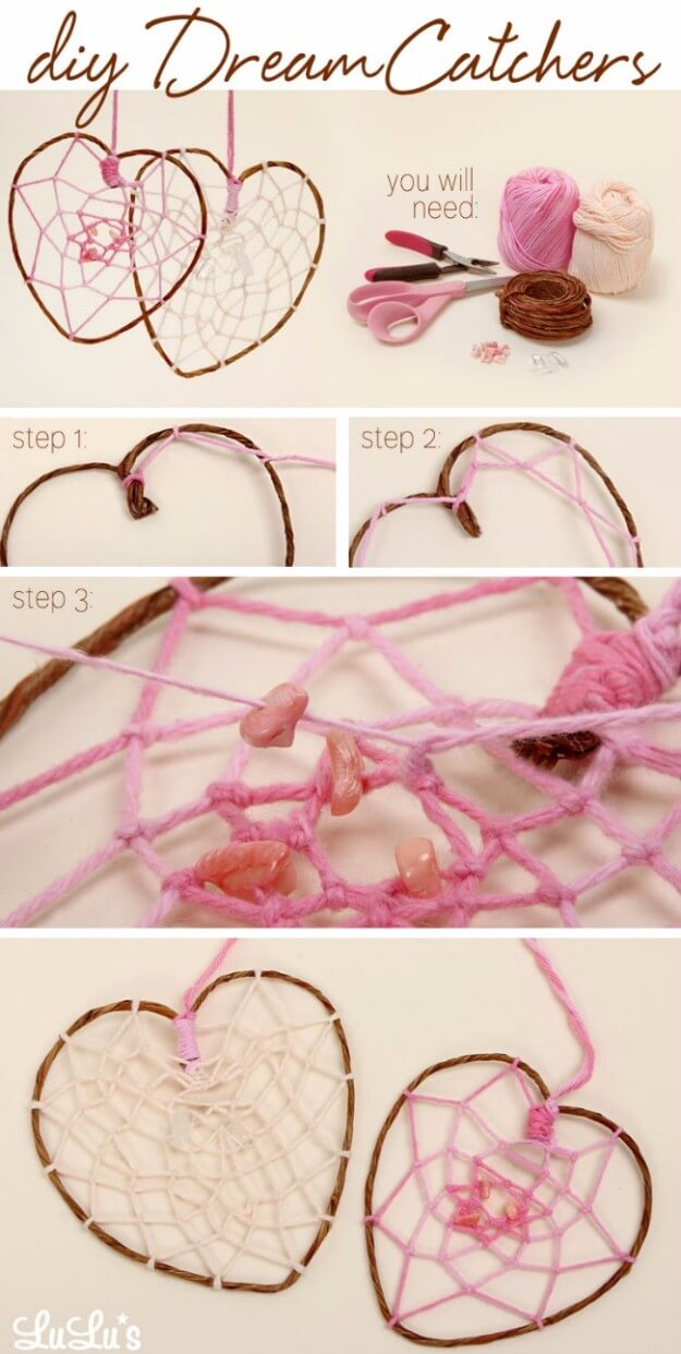 DIY Heart Dreamcatcher