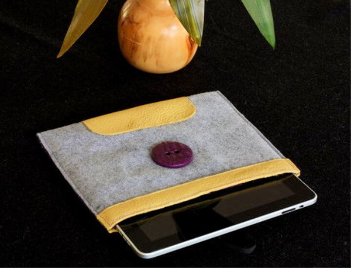 Leather and Felt iPad Case