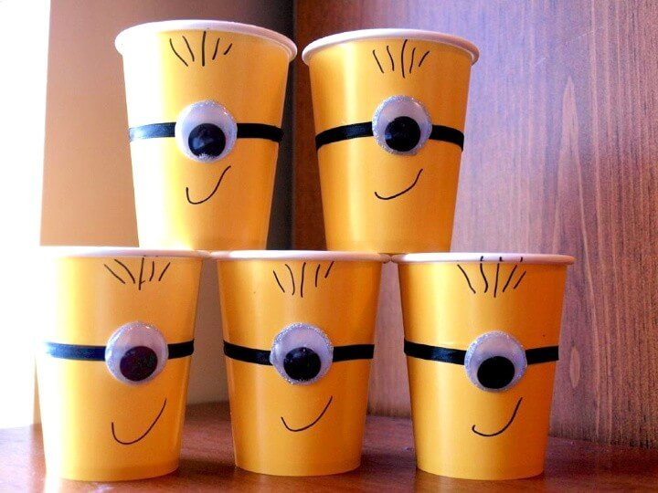 DIY Minion cups