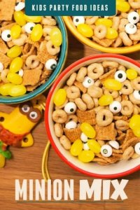 This Minion Party Mix includes yellow candy and little eyeballs - cute and delicious.