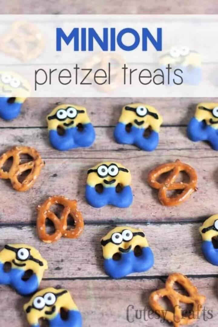 Minion Pretzel Treats
