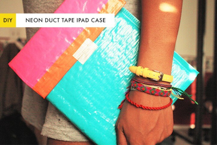 Neon Duct Tape iPad Case