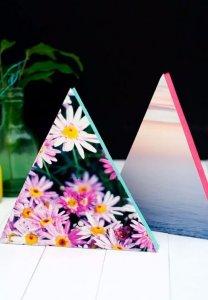 DIY Neon Triangle Photo Frames