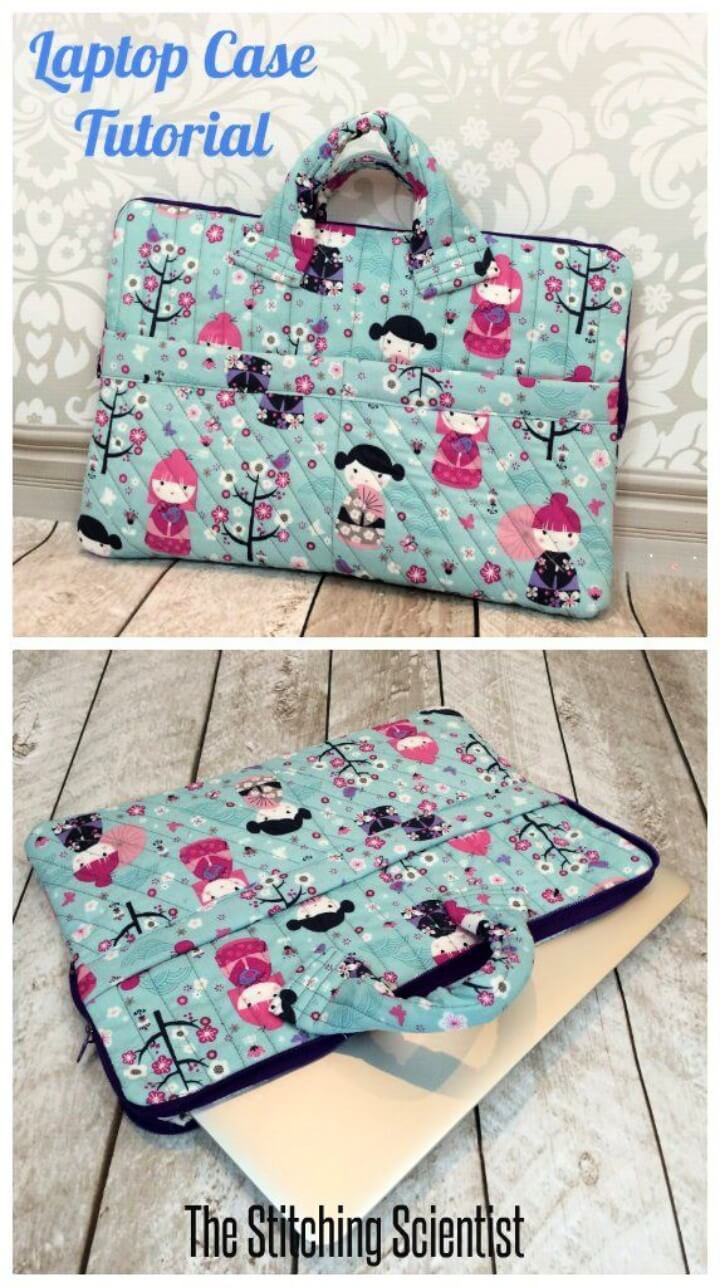 Quilted laptop case