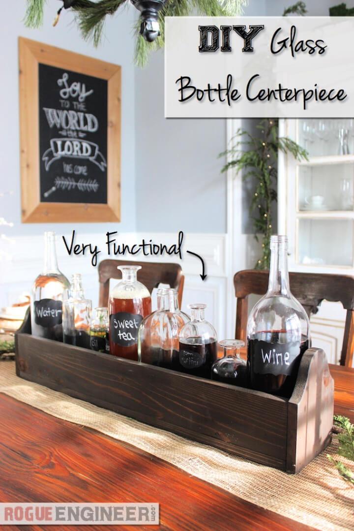 Simple Glass Bottle Centerpiece