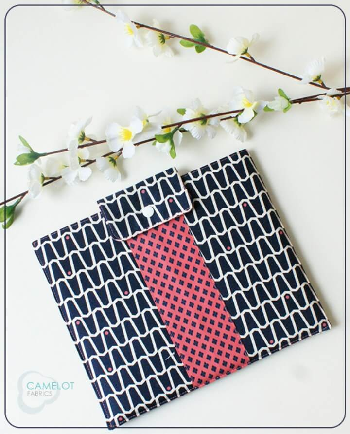 DIY stylish printed fabric tablet case